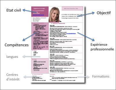 comment faire un bon cv pdf 4. Les différentes rubriques d'un CV   JeTravaille   L'emploi pour  comment faire un bon cv pdf